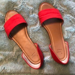 Sizzling Orange Kiera Sandals